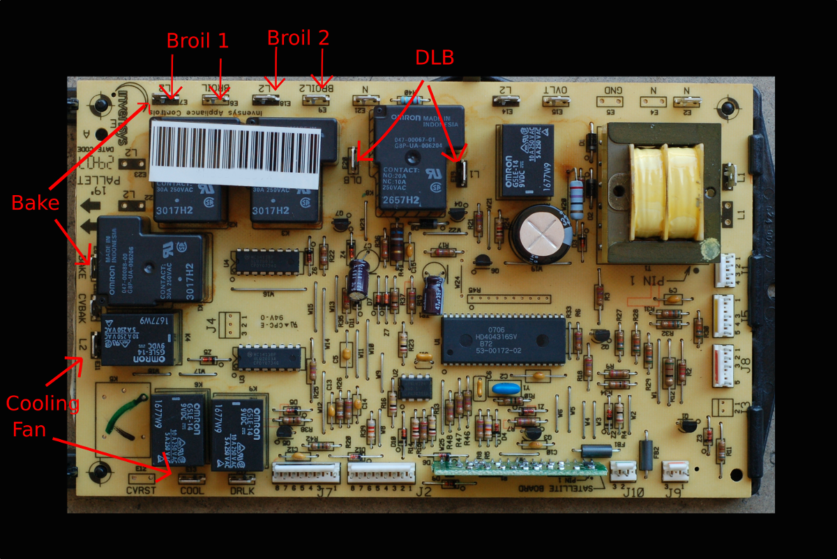 Thermador Oven Control Board Tyres2c Range Wiring Diagram Wall Not Heating Inconsistent Temperature The Circuit